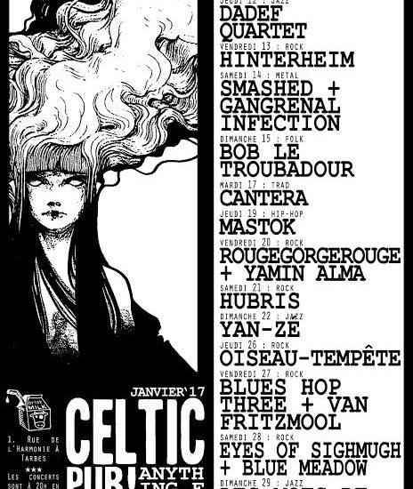 le mois de janvier 2017 au Celtic Pub